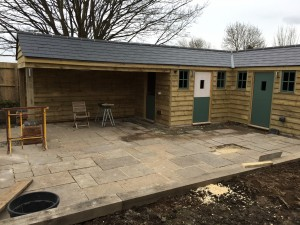 New build garden room and pottering shed